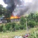 Chełmek - Pożar dawnego osiedlowego kościoła