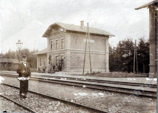 Chełmek - Dworzec PKP (stary) - historia kolei w gminie.