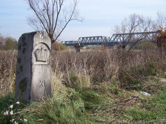 Chełmek - Słup graniczny nad Przemszą